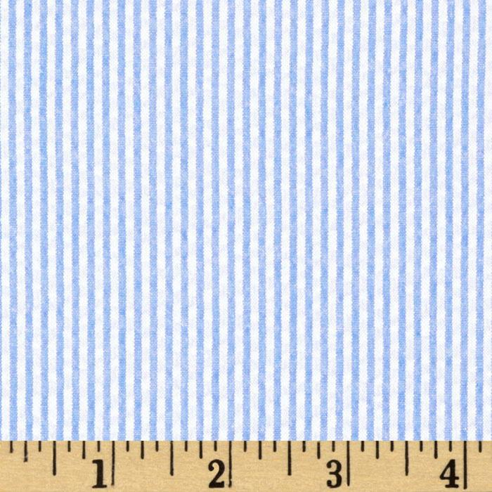 kaufman classic seersucker stripe light blue white discount designer fabric. Black Bedroom Furniture Sets. Home Design Ideas