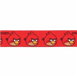 7/8'' Angry Birds Large Bird Ribbon Red