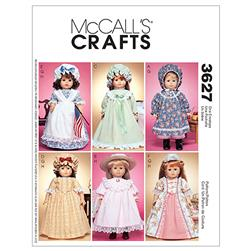 "McCall's 18"" Doll Accessories Pattern M3627 Size OSZ"