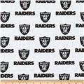 NFL Cotton Broadcloth Oakland Raiders Black/White