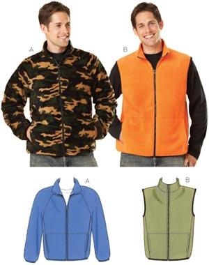 Kwik Sew Fleece Jacket & Vest Pattern