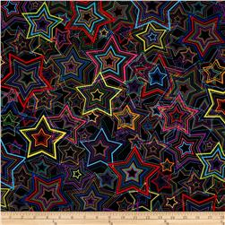 Kanvas Bright Idea Rainbow Star Black