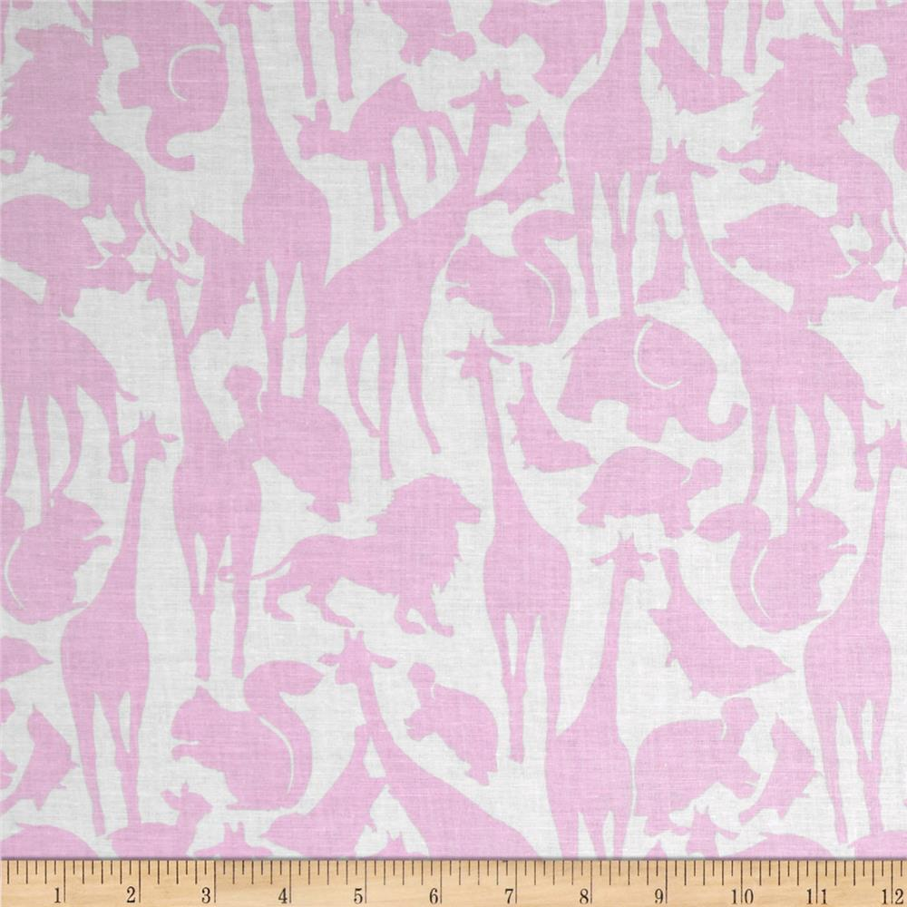 Michael Miller Cynthia Rowley Oh Baby Animal Silhouettes Pink