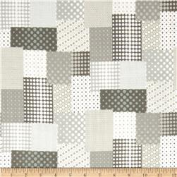 Seven Islands Double Cotton Gauze Patchwork Grey