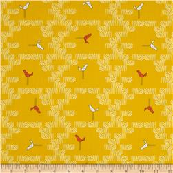 Zaza Zoo Scattered Birds Yellow