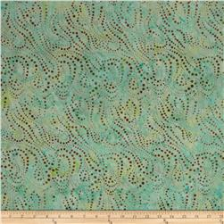 Batavian Batiks String of Dots Aqua