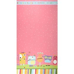 Googlies Flannel Border Print Pastel