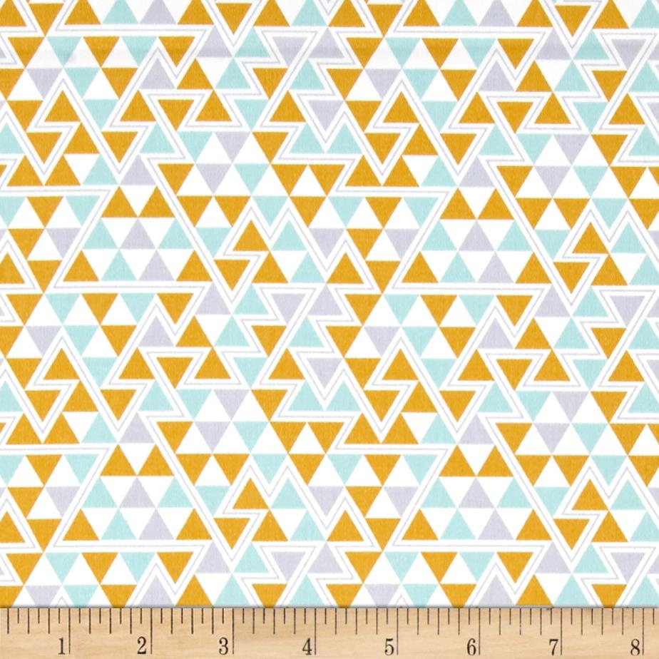 Joel Dewberry Wander Home Decor Sateen Triangles Maize
