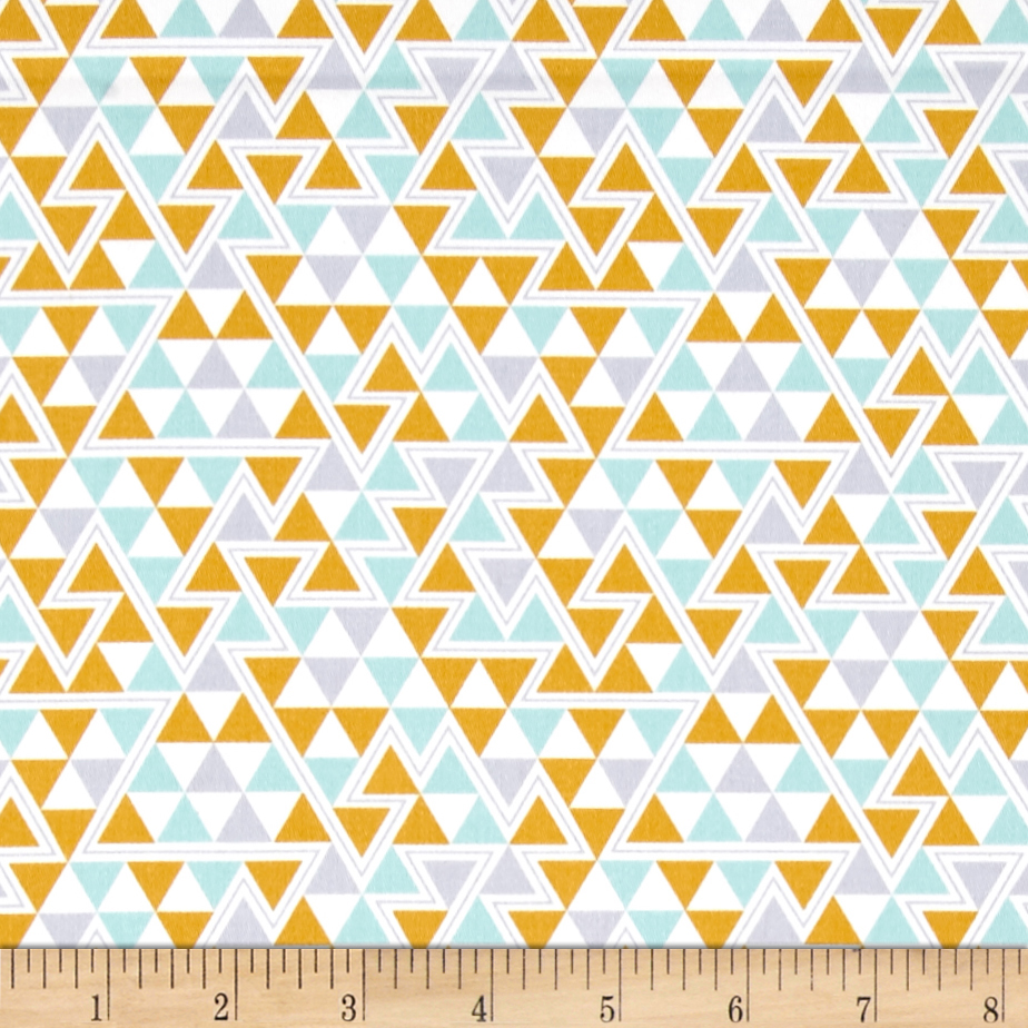 INOpets.com Anything for Pets Parents & Their Pets Joel Dewberry Wander Home Decor Sateen Triangles Maize