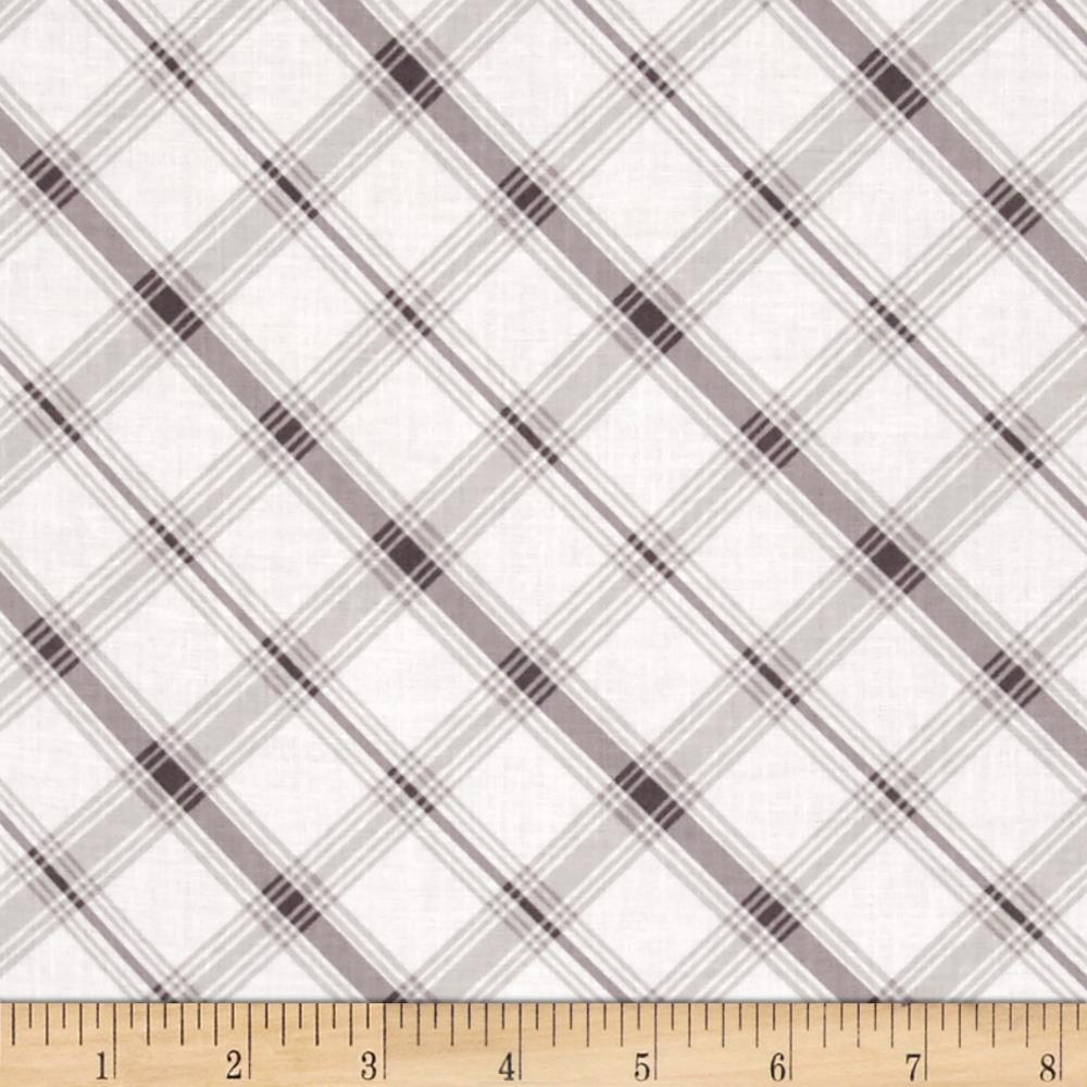Hideaway Diagonal Plaid Grey