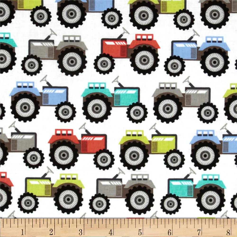 Michael Miller It's A Boy Thing Tractor Trails Paintbox