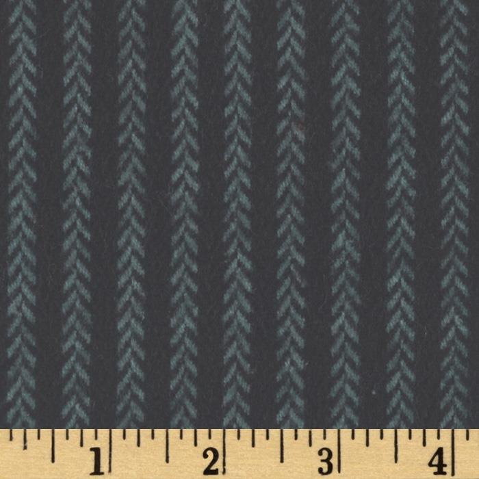 Primo Plaids Harvest Flannel Vine Stripe Charcoal