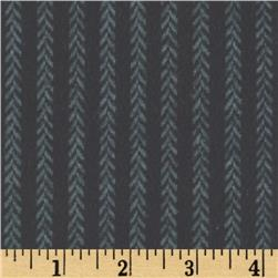 Primo Plaids Harvest Flannel Vine Stripe Charcoal Fabric