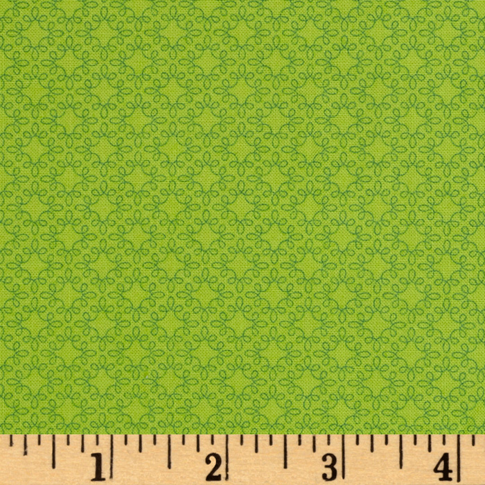 Image of Modern Melody Basic Filigree Geo Lime Fabric