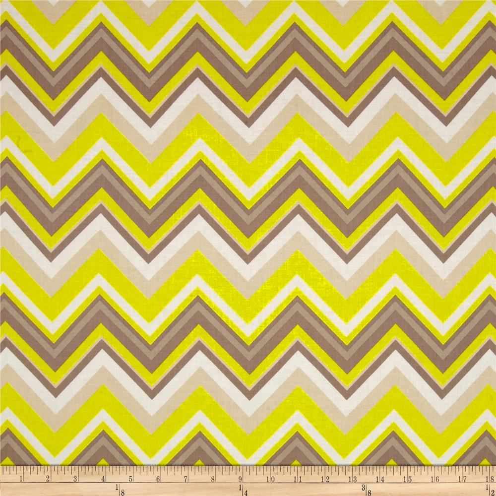 Bright Now Chevron Yellow/White