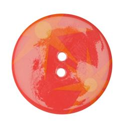 Fashion Button 1-3/8'' Confetti Stars Orange