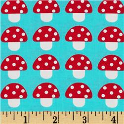 Woodland Pals Mushroom Party Bermuda Fabric