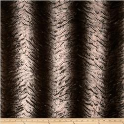 Minky Frosted Bengal Cuddle Brown Fabric
