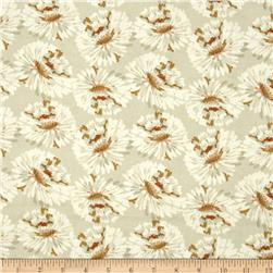 Maui Floral  Large Flowers Cream