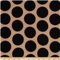 Soft Jersey Knit Polka Dot Black/Tan