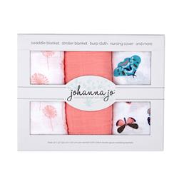 Embrace Double Gauze Swaddle 3 Pack Mariposa