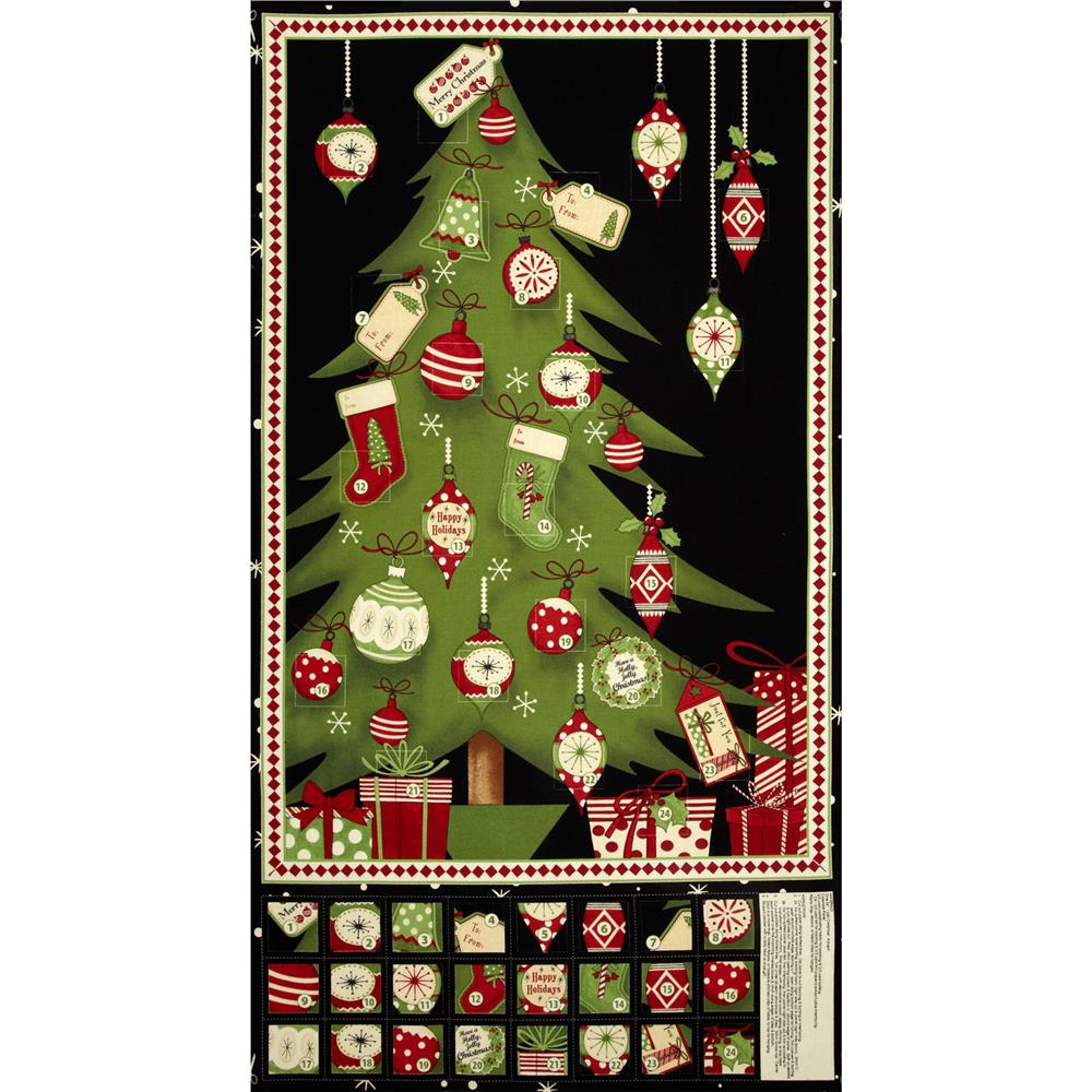Debbie Mumm Jolly Christmas Advent Calendar Panel Multi