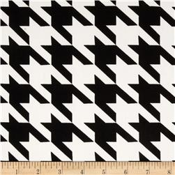Harlequin Stretch Cotton Sateen Houndstooth White/Black