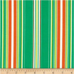 Contempo Brigitte Wallpaper Stripe Emerald