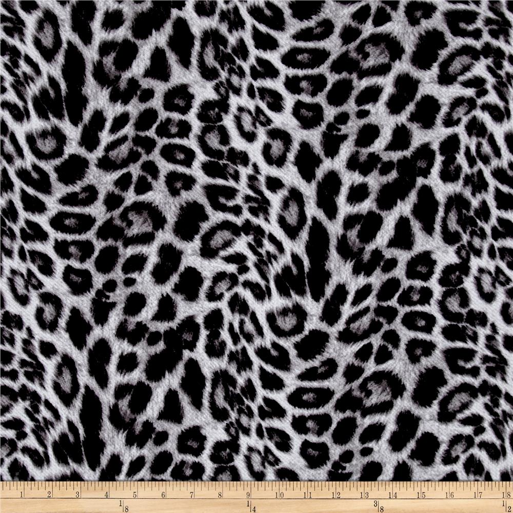 Liverpool Double Knit Leopard Print Black/Grey