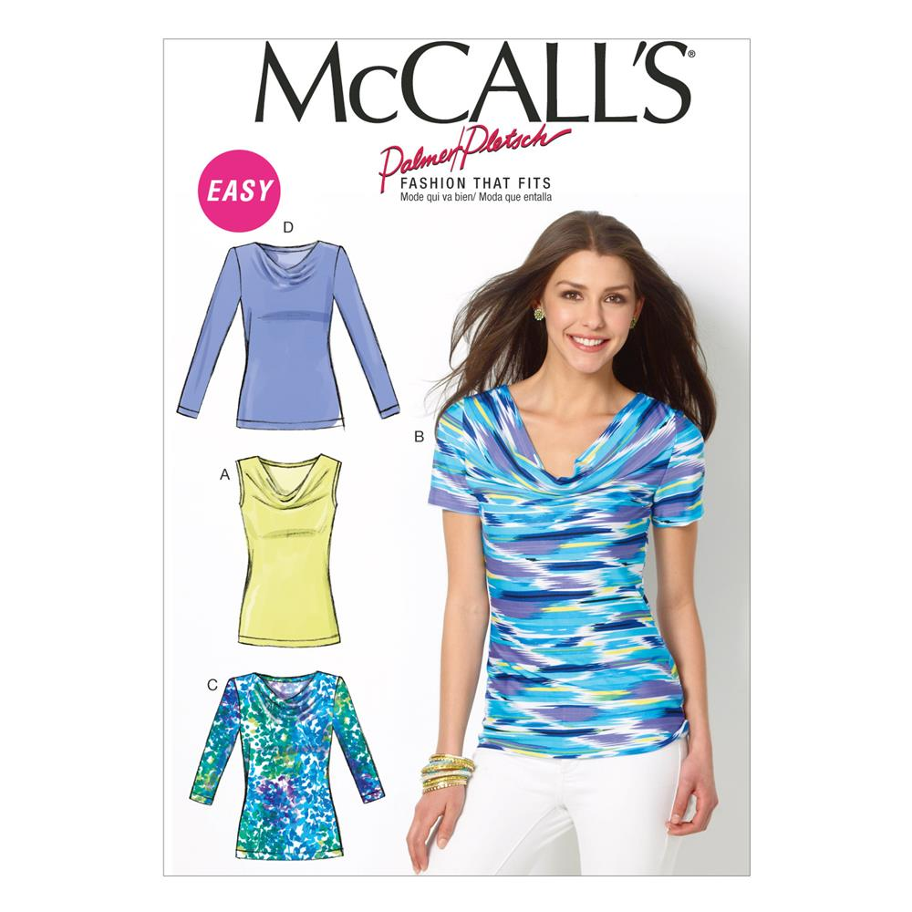 McCall's Misses' Tops Pattern M6963 Size B50