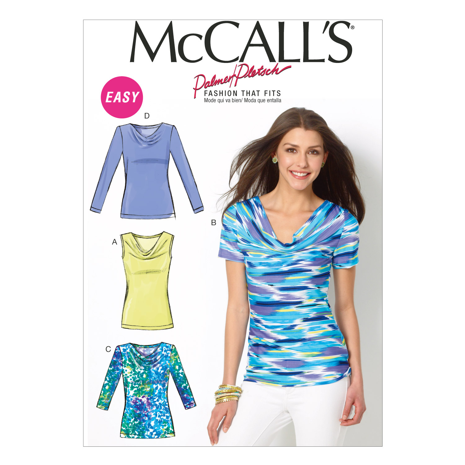 McCall's Misses' Tops Pattern M6963 Size B50 by Kwik Sew in USA