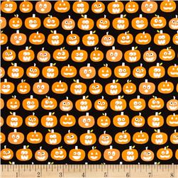 Riley Blake Halloween Magic Glow in the Dark Pumpkins Black