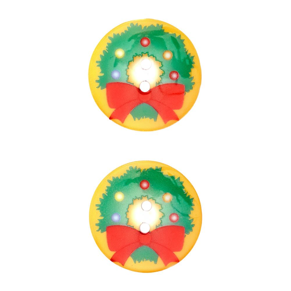 Novelty Winter Wonder Button 1 1/8'' Wreath