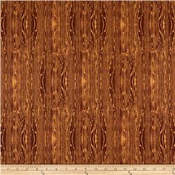 Aviary 2 Woodgrain Bark Brown Fabric