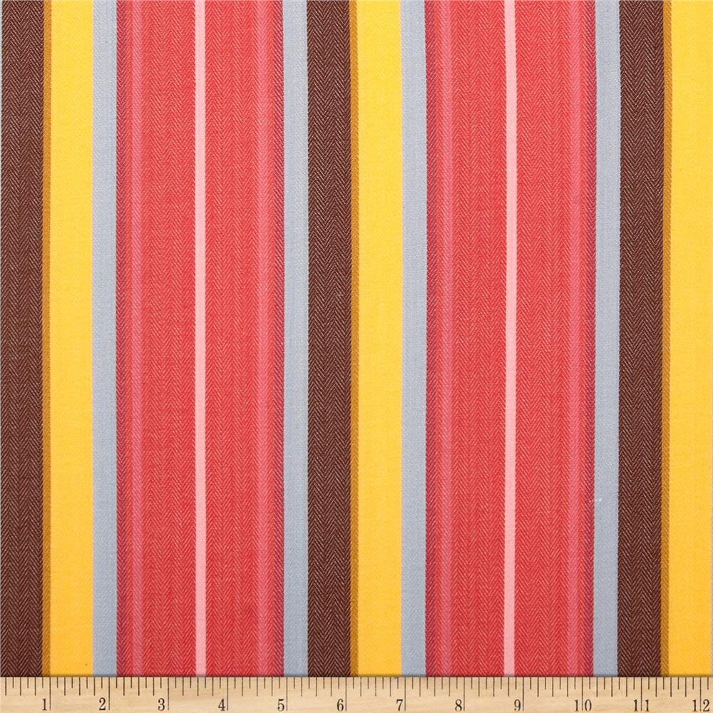 Serape Stripes Shirting Scarlet