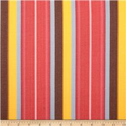Kaufman Serape Stripes Shirting Scarlet