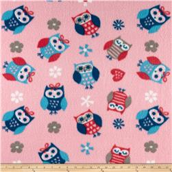 Fleece Print Owl Blue