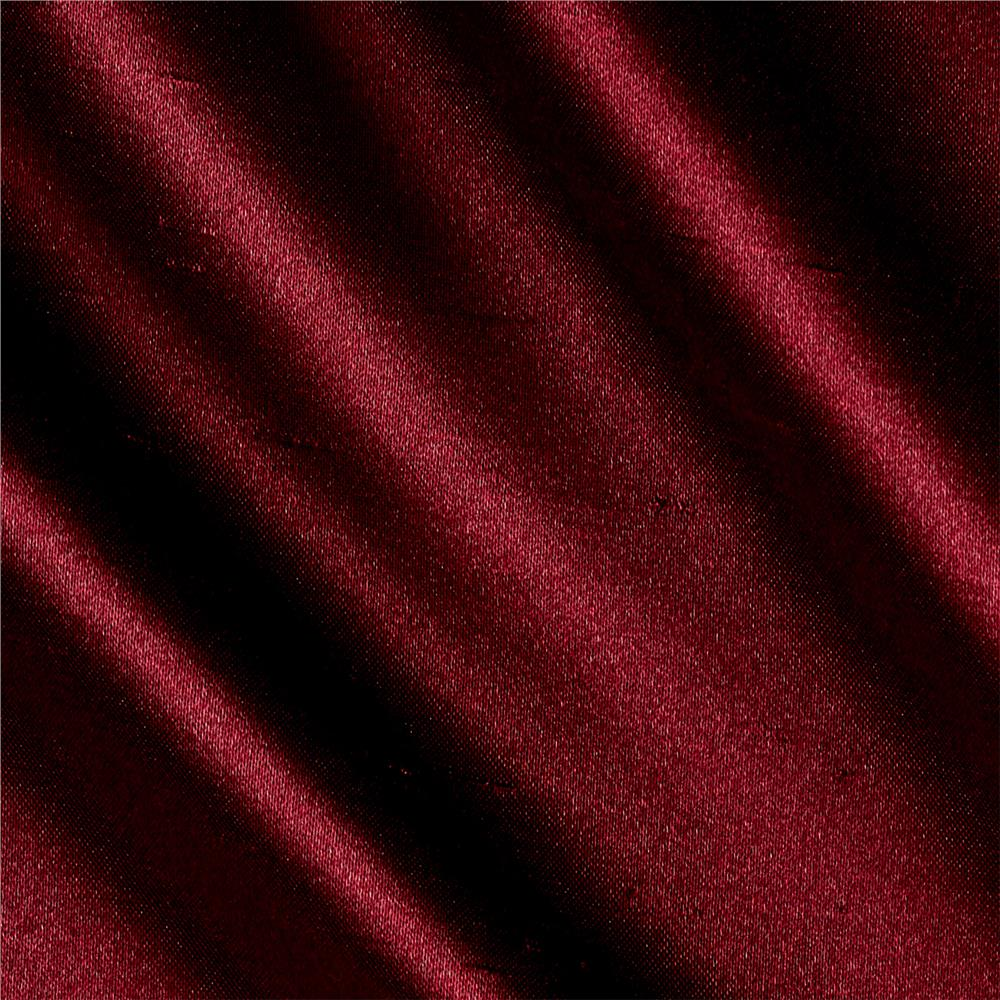 Shantung Sateen Burgundy Fabric By The Yard