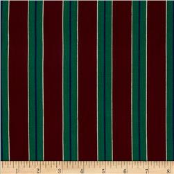 60'' Holiday Taffeta Stripes Green/Wine
