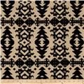 Hatchi Lightweight Sweater Knit Aztec Diamonds Khaki/Black