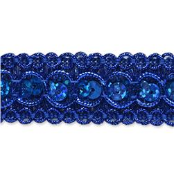 "7/8"" Trish Sequin Metallic Braid Trim Roll Royal Blue"