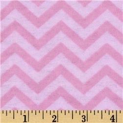 Little Nursery Flannel Chevron Tonal Pink