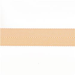 "May Arts 1 1/2"" Chevron Twill Ribbon Spool Orange"