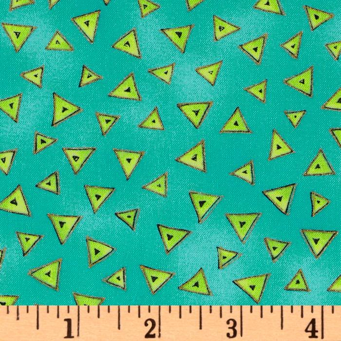 Laurel Burch Basics Triangle Aqua