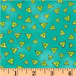 Laurel Burch Basics Triangle Aqua Fabric