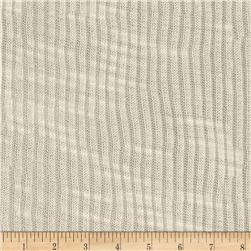 White Collection Tissue Slub Rib Knit Ivory