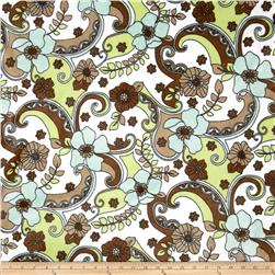 Minky Plush Floral Brown/Green