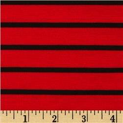 Ponte de Roma Knit Stripe Red/Black