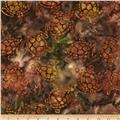 Michael Miller Batik Sea Turtles Brown