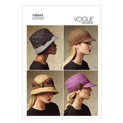 Vogue Hats Pattern V8941 Size OSZ